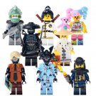 Ninjago Garmadon Nya Sensei Wu Flashback Minifigures Compatible Lego Toys