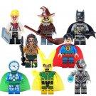 Super Heror Aquaman Batman Cyborg Scarecrow Superman Loki Compatible Lego Clock King Minifigures