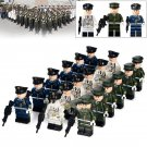 City Army Minifigures Infantry Land Air Honor Trooper Compatible Lego Toys