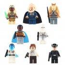 Han Solo Lando Calrissian Minifigures Fit Lego Star WarsJar Binks First Legion Commander