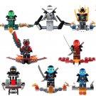 Phantom Ninja Samural X Jay Kai Cole Zane Minifigures Compatible Lego Ride Ninja