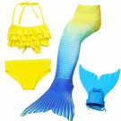 Cheap Mermaid Tail for Swimming for Kids 4pcs Girls Swimmable Mermaid Costume