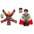 Doctor Strange vs Ironman Minifigures Marvel Hero Fit Lego doctor strange sanctum sanctorum