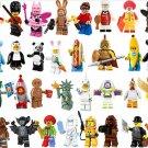 32pcs Minifigures Series 7 8 13 Compatible Lego Minifigures Ginger Panda Shark
