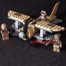 WW2 German Plane Armored Pilot Soldiers Minfigures Compatible Lego Military Sets