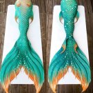 Aqua Green Swimmable Mermaid Tails for Adult Performance Swimsuit Mermaid Party Beach Dress