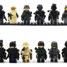 SWAT Special Force Squad Military Soldiers Minifigures Lego City Police Gear Fit Toys