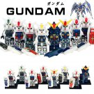 Gundam Minifigure Japanese Transformers Robots Action Figure for Lego Minifigures