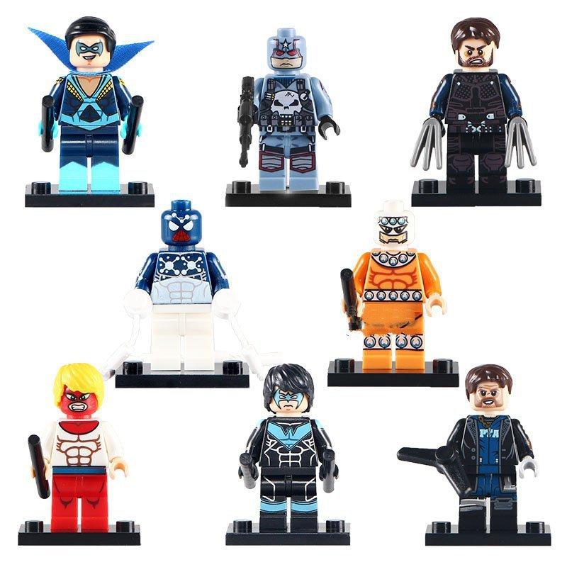 DC Heroes Logan Captain Boomerang Nightwing Minifigures for Lego Super Hero