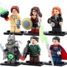 DC Comics Wonder Woman Batman Superman Lois Lane Racing Suit Lego Minifigures Fit Toys