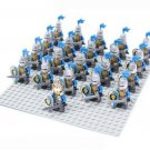 King Castle Series Blue Lion Knights Army Trooper Fit for Lego Medieval Knights