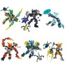 Bionicle Protector of Jungle Rock Water Ice Fire Figures for Lego Bionicle Sets 6pcs