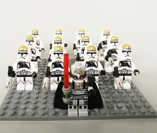 2017 Clone Trooper Gunner Trooper Darth Malgus Minifigures Fit for Lego Star Wars Sets