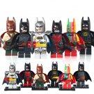 DC Batman Rainbow Batman Racing Batsuit Sword Minifigures Fit Lego Superheroes