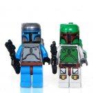 Star Wars Boba Fett Jango Fett Minifigures Fits for Lego Trooper Minifigures