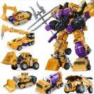 Transformers KO Devastator Action Figure Bricks Toys Lego Transformer Fit Boys Birthday Gift