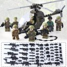 WW2 Battle Pack Military Base Special Force Squad Helicopter for Lego American Soliders