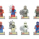 Custom Spiderman Homecoming Minifigures Knights Lego Marvel Super Hero Bricks Building Toys