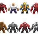 Marvel Villain Carnage Kingpin Wolverine Venom Deadpool Coyote Toxin Minifigure Lego Super Hero Fit