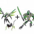 Uxar Creature of Jungle vs Lewa Figures Bricks Toy Lego Bionicle Hero Factory Fit Sets
