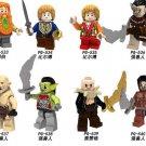 2018 Lord of the Rings Bombur Bilbo Uruku-hai Goblin Yazneg Minifigures Lego Compatible Toy