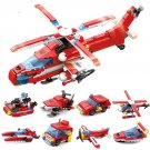 City Fire Fighter Station Rescue Plane Truck Fit Lego Rescue Helicopter