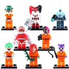Harley Quinn Joker  Prisoner Akham Asylum Catwoman Calendar Man Minifigure Fit Lego Batman Civillain