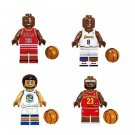 Jordan Kobe Bryant Stepehn Curry Lebron James Minifigures Compatible Lego Players