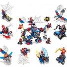 Spiderman Minifigures 8 in 1 Robot Building Toy Compatible Lego Marvel Super Hero