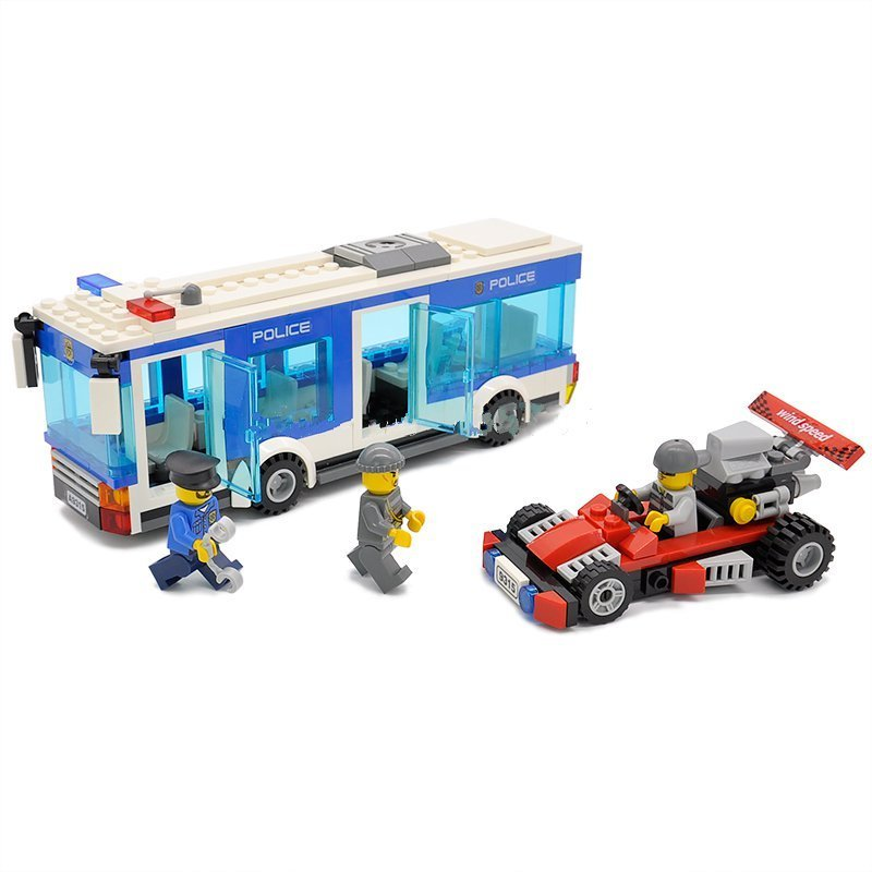 City Police Bus Racing Card Building Toy Compatible Lego Police Station