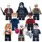 Horror Movie Minifigures Billy Michale Freddy Krueger Jason Scream Killer Fit Lego