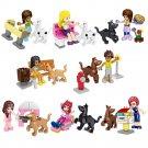 Girls Dog Party Minifigures Compatible Lego Friends Sets