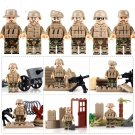 WW2 American Soldiers Army in Africa Compatible Lego Soldiers