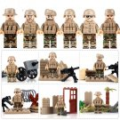 WW Soldiers Battle Gear Minifigures Compatible Lego Soldiers Building Toy