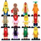 Series 16 17 Banana Man Hot Dog Man Ginger Man Carrot Man Fit Lego Minifigures