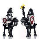Black Skeleton Calvary Knights Compatible Lego Lord of Rings Soldiers
