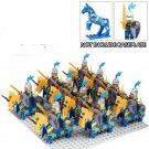 Blue Crown Medieval Knights Army Princess Castle Guards Compatible Lego