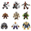 Marvel DC Thanos Hulk Groot Ares Batman Goblin King Big Figure Lego Fit Toy