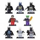 DC Super Heroes Batman Robin Clow Minifigures Lego Compatible Building Toys