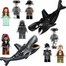 Pirates of the Caribbean Minifigures Zombie Sharks Figure Compatible Lego Pirates Sets