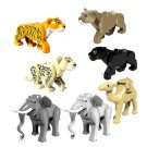 Sarafi Zoo Big Cat Line Tiger Leopard Black Panther aguar Elephant Camel Lego Animails Fit