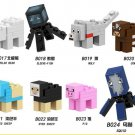 Custom Mine Craft Animail Minifigures Pig Cow Polar Bear Squid Wolf Dyed Sheep Fit Lego