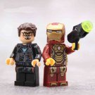 Marvel Universe Super Hero Ironman Tony Stark Minifigures Lego Fit