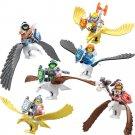 Eagles Soldiers Robin Aaron Beast Flying Minifigures Lego Nexo Knights Compatible