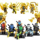 Custom Ninjago Kay Zane Cole Kay Minifigures Lego Gold Ninjago Minifigures Compatible