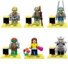 Ninja Turtles Leonardo THE SHREDDER Donatello April O'Neil Minifigures Fit Lego TMNT