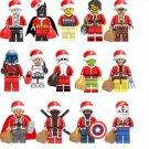 Marvel Super Hero Santa Claus Minifigures Compatible Lego Xmas Super Hero