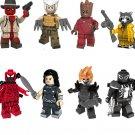 Marvel Super Hero 2018 Deadpool Cowboy Ghost Rider Venom Lasher Minifigures Compatible Lego