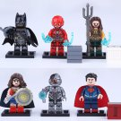 DC Universe Batman Flash Aquaman Wonder Woman Cyborg Superman Minifigures Lego Fit