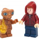 Cutstom E.T andd Elliot The Extra Terrestrial Minifigures Compatible Lego